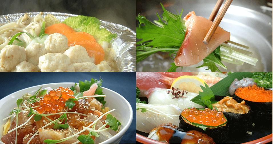 鮮魚を使った4つの料理写真